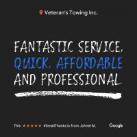 Oak Brook Veterans Towing & Recovery | Reviews
